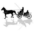 Horse carriage vector image vector image