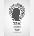human head in gears forming a light bulb vector image vector image