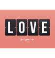 I love you mechanical panel letters vector image vector image