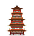 japanese pagoda building vector image