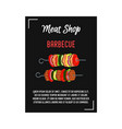 kebab - meat on skewer poster banner with vector image vector image