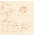 Lily frame isolated over sepia vector image vector image
