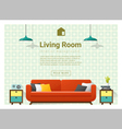 Living room Interior background 4 vector image