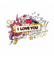 love and heart vector image vector image
