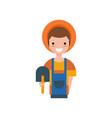 male farmer with shovel gardener vector image vector image