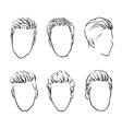 man hair Hand drawn hipster fashion beard vector image vector image