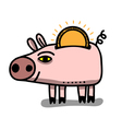 money box pig vector image