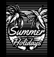monochrome retro poster with palm trees vector image