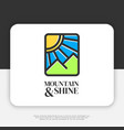 mountain and shine logo design inspiration vector image vector image
