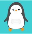 notebook cover penguin cute cartoon character vector image