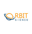orbit sience logo vector image