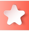 Paper 3d star eps10 background vector image vector image