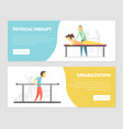 physical therapy rehabilitation landing page vector image vector image