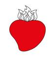 sacred hearth of jesus icon vector image vector image