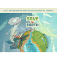 Save the Earth eco poster vector image
