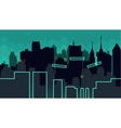 Seamless cartoon night city landscape vector image vector image