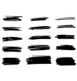 set brush strokes line vector image vector image