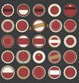 set empty retro vintage badges 3 vector image vector image