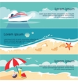 set of horizontal banners with seaside vector image vector image