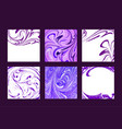set of marble abstract backgrounds liquid vector image