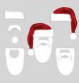 set of santa accessories hats moustache beard vector image