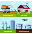smart farming orthogonal design concept vector image vector image