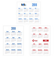 spanish set calendar on 2018 year vector image vector image