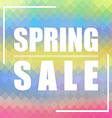 Spring Sale background Can be used for cards vector image vector image