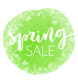 spring sale hand written inscription vector image vector image