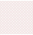 squares circles crosses geometric lace pattern vector image vector image