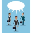 teamwork business persons bubble speech dialog vector image