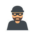 thief icon flat style vector image vector image