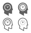 time management businessman head deadline concept vector image
