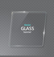 transparent glass plate mock up see through vector image vector image