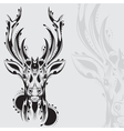 Tribal deer head tattoo vector image