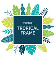 tropical leaves and plants sguare frame vector image vector image
