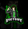 victory logo esports vector image
