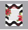 Vintage Poinsettia Christmas Invitation Card vector image vector image