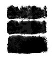 watercolor wide black brushes set vector image vector image