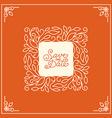 wedding invitation or save date card design vector image