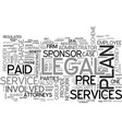 who is involved in legal services text word cloud vector image vector image