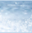 winter blurred blue background with snow and vector image vector image