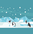 winter north pole arctic landscape background vector image vector image