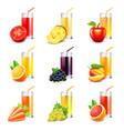 Fruit juice icons set vector image