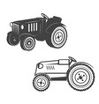 set of tractors isolated on white background vector image