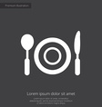 restaurant premium icon white on dark background vector image