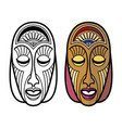 african mexican indian tribal masks isolated on vector image vector image