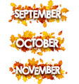 autumn banners with orange leaves vector image vector image