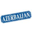 Azerbaijan blue square grunge retro style sign vector image vector image
