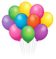 balloons theme image 2 vector image vector image
